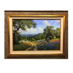SOUTHWEST GALLERY: Original Oil on Canvas Painting by Texas Artist Kay Walton