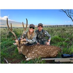 HIGH ADVENTURE: 2-Day/3-Night Axis Deer Hunt for Two Hunters in Lanai, Hawaii - Includes Trophy Fees
