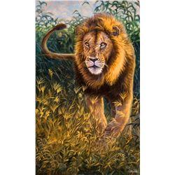 """CARLSON ART: """"Simba"""" - Original Oil Painting by Cory Carlson"""