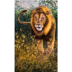 CARLSON ART:  Simba  - Original Oil Painting by Cory Carlson