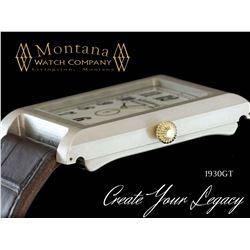 MONTANA WATCH: Men's Luxury Custom 1930GT Life Story Timepiece