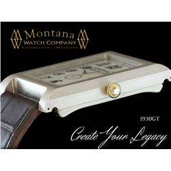 MONTANA WATCH: Men's Luxury Custom 1930GT Life Story Timepiece