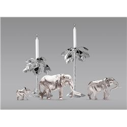 PATRICK MAVROS: Sterling Silver Candle Holder Collection by Patrick Mavros