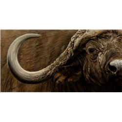 "BANOVICH: ""Mbogo II"" -  Original Artwork by Wildlife Artist John Banovich"