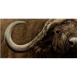 BANOVICH:  Mbogo II  -  Original Artwork by Wildlife Artist John Banovich