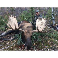 YUKON BIG GAME: 11-Day Yukon Alaska Moose Hunt for One Hunter in Canada - Includes Trophy Fee