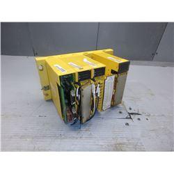 FANUC A03B-0807-C002 ABU05A 5 SLOT RACK W/ 3 MODULES *SEE PICS FOR MODEL NUMBERS* *1 NO PLASTIC*