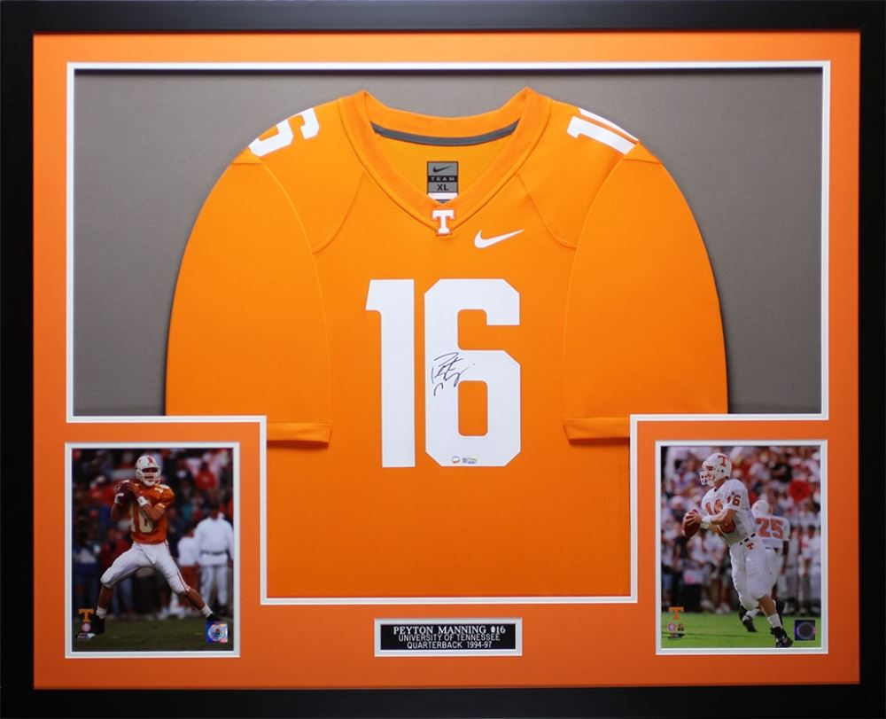 buy popular fdc03 26664 Peyton Manning Signed Tennessee Volunteers 35
