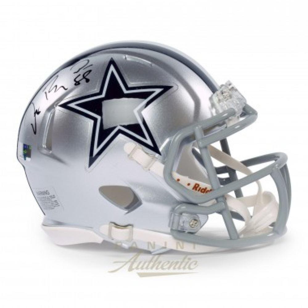 Dez Bryant Signed Cowboys Speed Mini Helmet Panini Coa