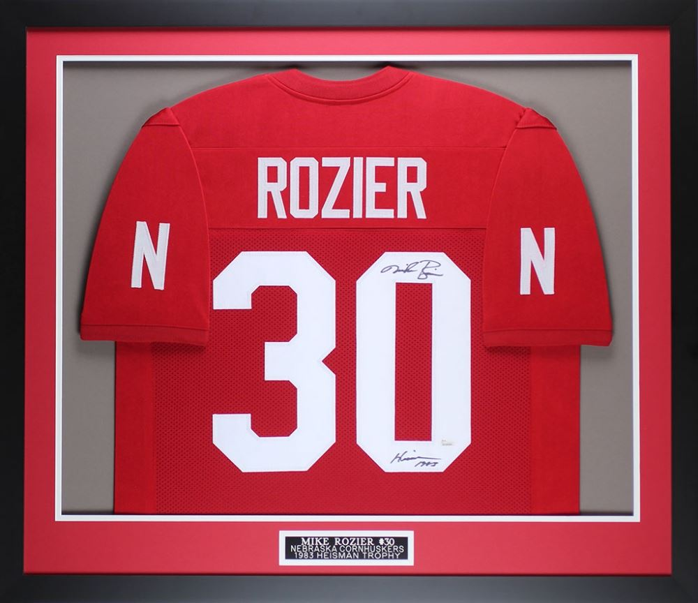 new style 24a95 42e0d Mike Rozier Signed Nebraska Cornhuskers 32x37 Custom ...