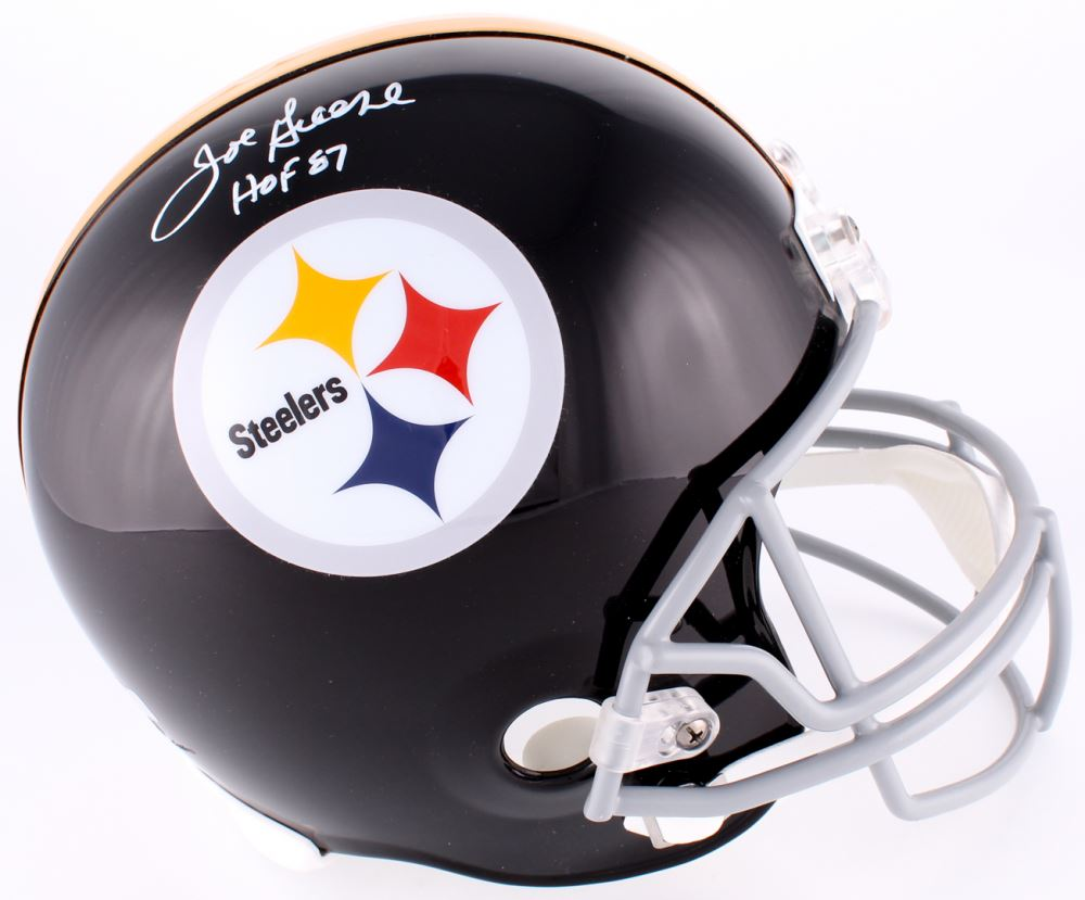 best service 296b2 81b65 Joe Greene Signed Steelers Throwback Full-Size Inscribed ...