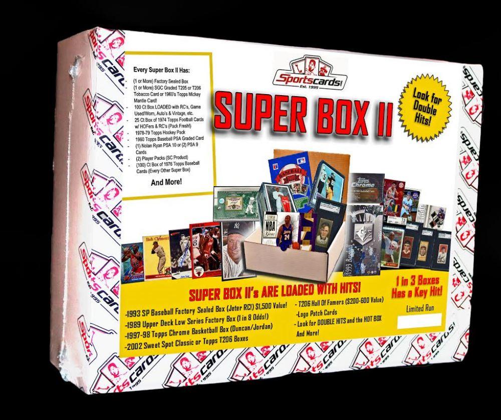 Sportscardscom Super Box Ii Sports Cards Mystery Box Loaded