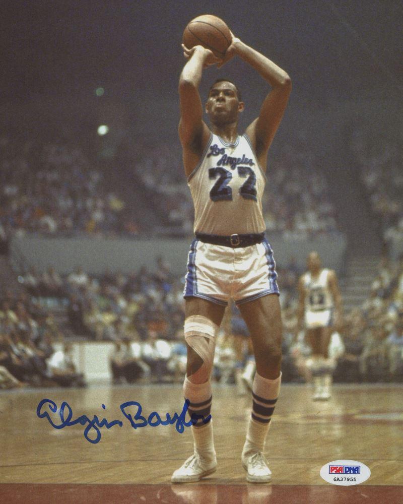 92013783e2e Image 1   Elgin Baylor Signed Lakers 8x10 Photo (PSA COA)