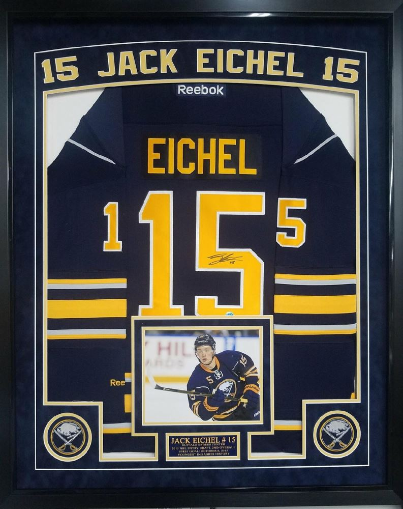 cheap for discount 59b07 1f3f7 Jack Eichel Signed Sabres 36x44 Custom Framed Authentic ...