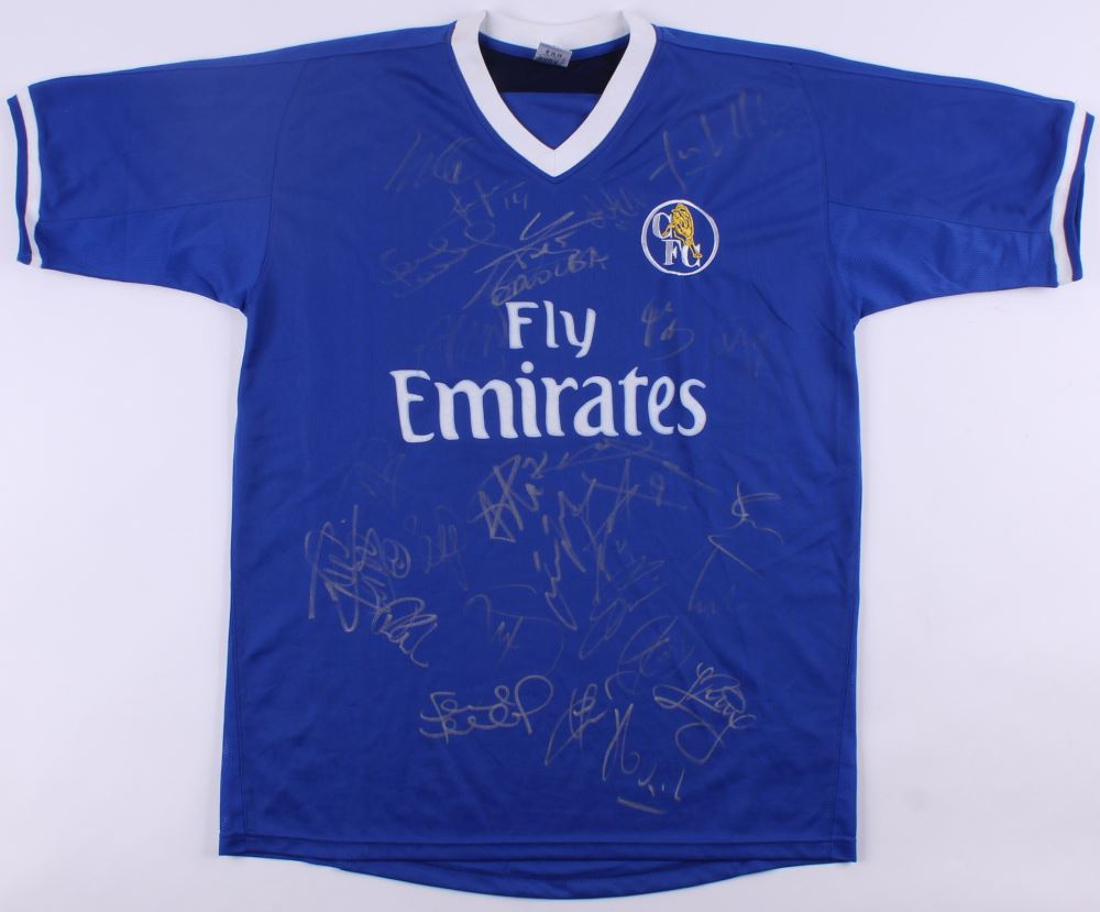 another chance a3563 c1744 2004-05 Chelsea Jersey Team-Signed by (25) with Didier ...