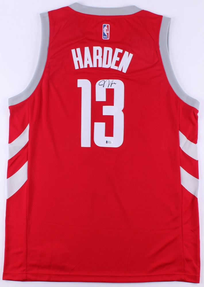 the latest a3af9 16bbd James Harden Signed Rockets Chinese New Year Jersey ...