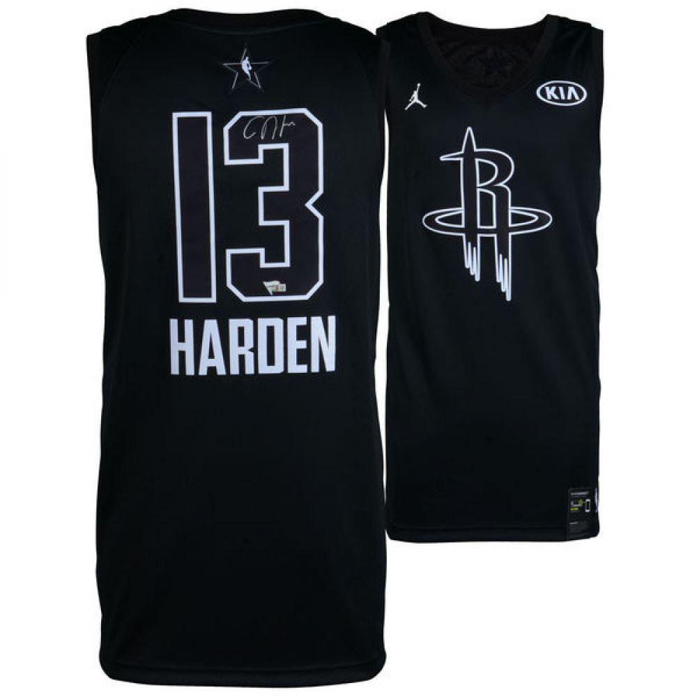 the latest 01c27 e5a65 James Harden Signed Rockets Nike Jersey (Fanatics)