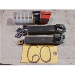 Set of Kennametal Holder MCLNL/MCRNR -166D with inserts CNMG-642