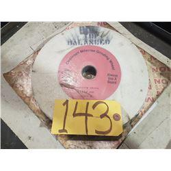 """Cincinnati Milacron Grinding Wheel 10"""" x 1"""" x 1""""1/4"""