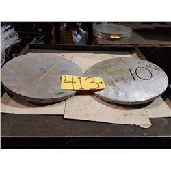 "Lot (2) Aluminum 10"""