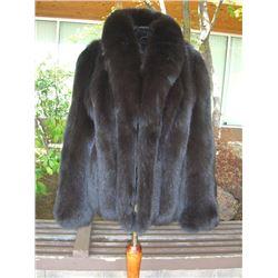 Dark Chocolate Brown Fox Jacket