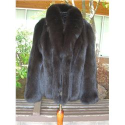Dark Chocolate Brown Fox Jacket
