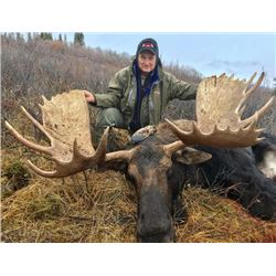 11-day Yukon Trophy Moose or Mountain Caribou Hunt for One Hunter