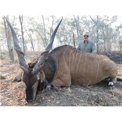 13-day Cameroon Lord Derby Eland, Roan and West Savanna Buffalo Hunt for One Hunter and One Observer