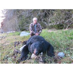 6-day Alaskan Black Bear Hunt for Two hunters and Two Observers
