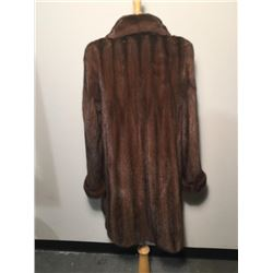 36-in. Mahogany Mink 3/4 Coat
