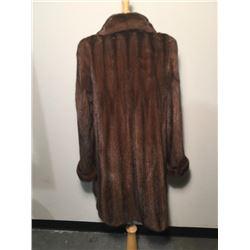 36-in. Mahogany Mink 3/4 Coat