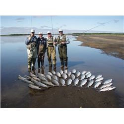 7-day Alaska Salmon, Trout and Char Fishing for Parent and Son or Daughter (Two Anglers)