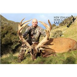12-day New Zealand Big Game and Waterfowl Hunt for Three Hunters and Three Observers