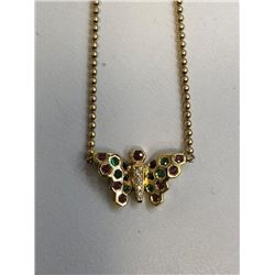 Handmade French Butterfly Necklace