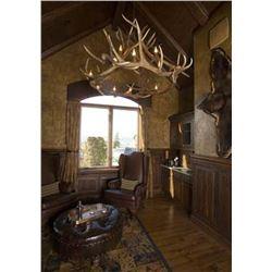 XL, 12-light elk antler chandelier