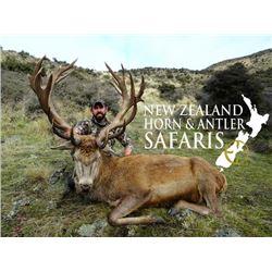 10-day New Zealand Big Game Safari for Three Hunters and Three Observers