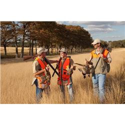 2-day Texas Quail, Pheasant and Chukar hunt for Two Hunters and Two Observers
