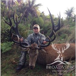 5-day/4-nights New Zealand Red Deer Hunt for Two Hunters and Two Observers