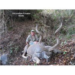 18-day Ethiopian Spiral Horned Antelope Safari for One Hunter and One Observer