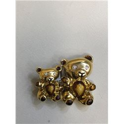 Handmade Teddy Bear Broach