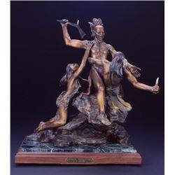 Bronze Sculpture Titled 'Sunrise Encounter'