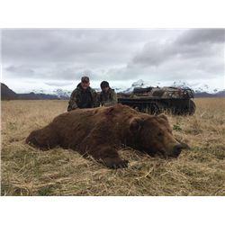 8-day Alaska Peninsula Brown Bear Hunt for One Hunter