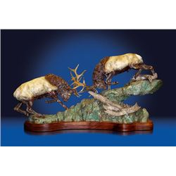 Bronze Elk Sculpture 'Primitive Force'