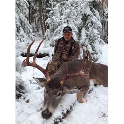 6-day British Columbia Canadian Lynx and Northwestern White-Tail Deer Hunt for One Hunter