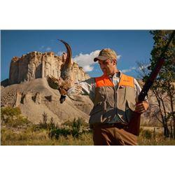2-day/3-night Utah Pheasant, Chukar and Quail Shoot for Two Hunters