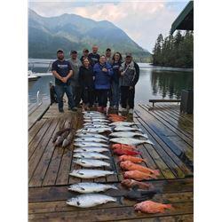 3-day/4-night Vancouver Island Salmon, Halibut, Rockfish and Lingcod Fishing Trip for Two Anglers