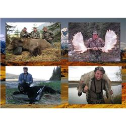 9-Day Alaska Coastal Brown Bear, Moose, Black Bear, and Wolf Hunt for One Hunter and One Observer
