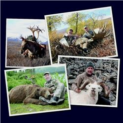 18-Day All-inclusive Full Bag Alaskan Safari, Taxidermy Work and Original Art Work For One Hunter