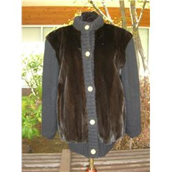 Ranch Mink with Knitted Sleeves