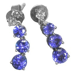 TANZANITE & STERLING SILVER 2.59 CT.